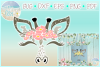 Giraffe Face With Flowers SVG DXF EPS PNG PDF files example image 1