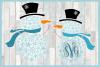 Snowflakes Snowman Monogram Svg Dxf Eps Png Pdf example image 3