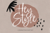 Hey Style - A Handwritten Brush Font example image 1