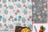 Cupcakes and Donuts Seamless Scrapbooking Papers 10 PNG file example image 2