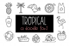 Tropical - A Tropical / Summer Doodle Font  example image 1