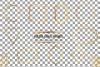 Elegant wedding geometric golden frames, lineal frames png example image 3