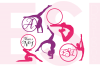 Gymnast Silhouette Monogram Designs Set example image 2