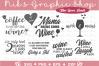Wine SVG, Wine Bundle SVG, Mom SVG, Wine Bottle Svg, Wine example image 1