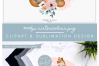 Floral Pink Mummy and Baby Fox - Sublimation PNG Clipart example image 5