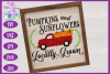 Pumpkins & Sunflowers Locally Grown SVG | Fall Truck SVG example image 2