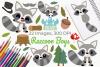 Raccoon Boys Clipart, Instant Download Vector Art example image 1