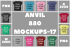 Anvil 880 Ladies Fit T-Shirt Mockups - 17 | PNG|3000x3000px example image 1