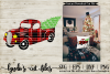 Buffalo Plaid Red Truck//Christmas//SVG//EPS//DXF example image 1