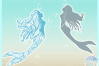 Mermaid Mandala Zentangle Svg Dxf Eps Png Pdf Files example image 2