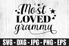 Most Loved Grammy SVG DXF EPS Most Cute Loved Grandma Shirt example image 2