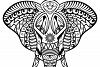 Elephant Mandala | vector files example image 3