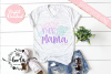 Mer Mama SVG Cutting File Mermaid Mom EPS DXF PNG example image 2