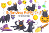 Halloween Party Cats Clip Art Collection example image 1