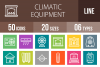50 Climatic Equipment Line Multicolor B/G Icons example image 1