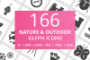166 Nature & Outdoor Glyph Icons example image 1