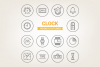 Circle Clock Icons example image 1