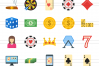 50 Casino Flat Multicolor Icons example image 2