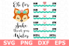 Fox Sake - A Water Tracker SVG Cut File example image 1