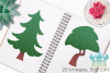 Summer Woodland Trees Clipart, Instant Download Vector Art example image 3