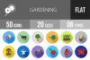 50 Gardening Flat Long Shadow Icons example image 1