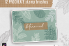 Procreate Stamp Brushes Bundle - 122 elements   Botanical example image 2