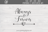 Always and Forever Svg File example image 1