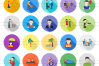 50 Activities Flat Long Shadow Icons example image 2