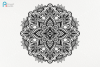 Mandala Svg, Zentangle Svg, Mandala Sunflower Svg, Mandala example image 2
