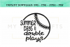 Summer Days And Double Plays Baseball SVG example image 1