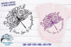 Peace Love and Dragonflies SVG | Floral Dragonfly SVG example image 1