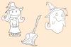 Cute Halloween Digital Stamps example image 4