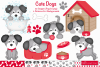 Dog clipart, Dogs -C37 example image 1