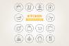 Circle Kitchen Icons example image 1