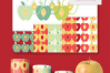 Apples Clipart Set with Matching Digital Collage Sheets PNG example image 4