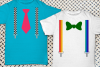 Ties and Fancy Suspenders SVG File Cutting Template Set example image 1