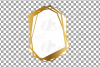 Chaotic geometric golden frames, lineal frames clip art example image 5