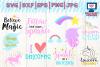 unicorn svg, unicorn face svg, unicorn dxf, cricut cut files, silhouette, vector, stars svg, unicorn silhouette, unicorn party example image 1