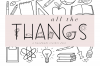 All The Thangs - A Handmade Letter & Doodle Font - Teaching example image 1