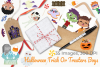 Halloween Trick Or Treaters Boys Clipart, Instant Download example image 4