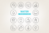 Circle Water Icons example image 1
