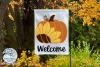 Welcome Sunflower Pumpkin SVG | Fall Pumpkin SVG Cut File example image 2