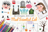 Mad Scientist Lab Clipart, Instant Download Vector Art example image 1