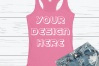 Anvil 6751L Racerback Tank Mockups with Background - 6 example image 5