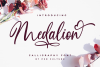 Medalion Calligraphy Font example image 1