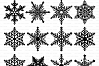 Winter Snowflakes SVG Snow svg cutting files Cricut and Silhouette SVG dxf png jpg included. Christmas Snowflake cutting files example image 2