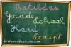 Matildas Grade School Hand_Script example image 4