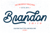 Brandon Smith - Handcrafted Monoline Font example image 1