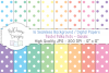 16 seamless Digital Papers Pastel Polka Dots Classic - HC010 example image 1