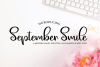 September Smile - A Hand-Written Calligraphy Font example image 1